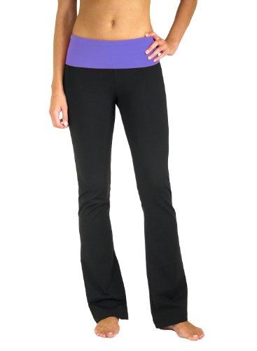 5021-pr-xs-31-flared-leg-fold-over-waistband-yoga-pants