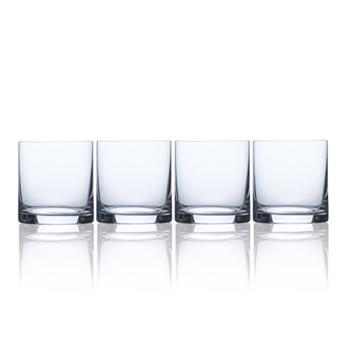 Mikasa Laura Double Old Fashioned, 13.5-Ounce, Set of 4