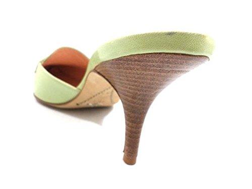 Zapatos Mujer SANTONI 37 EU Sandalias Verde Cuero AY978