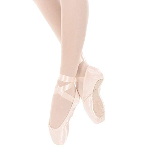 Women's Pink Danzcue Shoes Pointe Ribbon with Flexible Soft Shank dqq84nU1r