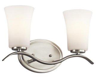 Kichler 45375NI Armida Bath 2-Light, Brushed Nickel
