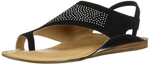 Suede Aerosoles Sandals (Aerosoles Women's Handbook Flat Sandal, Black Suede, 9 M US)