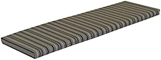 product image for Furniture Barn USA 5 Foot Outdoor Bench, Glider or Swing CushionSundown Material- Gray Stripe