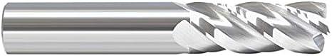 Bright 1.0000 Round Shank Type 4.0000 OAL Single End Corner Radius Carbide End Mill 4 Flute 1.5000 LOC .1250 Radius 1 Uncoated RedLine Tools RE14597Z