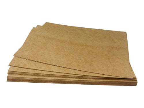 Kraft Brown Paper Sheets - 8.5 x 11 Inches Letter Sized Kraft Paper, 120GSM Paper, Perfect for Arts, Crafts, and Office Use (48 Sheets Pack)