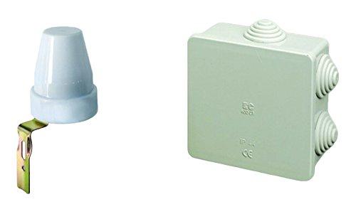 2 opinioni per Electraline 92278 Interruttore Crepuscolare per Uso Esterno IP44 e Scatola