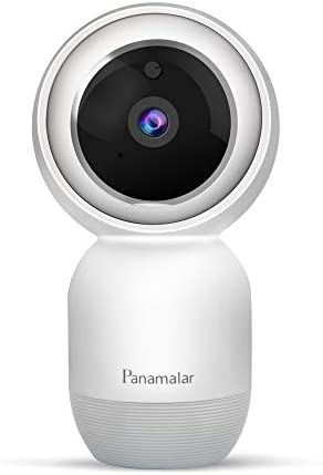 Panamalar Indoor Security Camera, 1080P WiFi Home Security Camera with Alexa Voice Control,Pan Tilt Rotation,Motion Tracking,Night Vision and 2-Way Audio, Smart Surveillance Camera for Baby Elder Pet