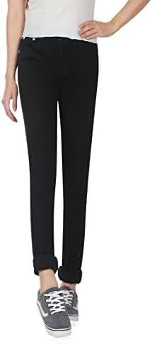 Demon&Hunter Women's Black Skinny Jeans Y6L20