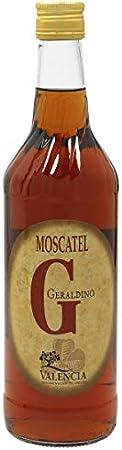 GERALDINO vino blanco de uva moscatel botella 70 5 cl