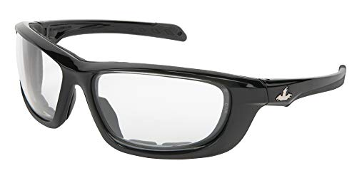 MCR Safety UD2 Series Safety Glass, Clear Max36 Anti-Fog Lens, Black Frame, Foam Lined, ANSI Z87+ RATED, Shooting, Airsoft Protection, 1 Each