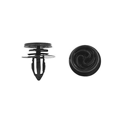 eDealMax 50pcs Negro Plástico Protección Contra salpicaduras ajuste de la puerta Mat Moldeo 11mm Clip Para