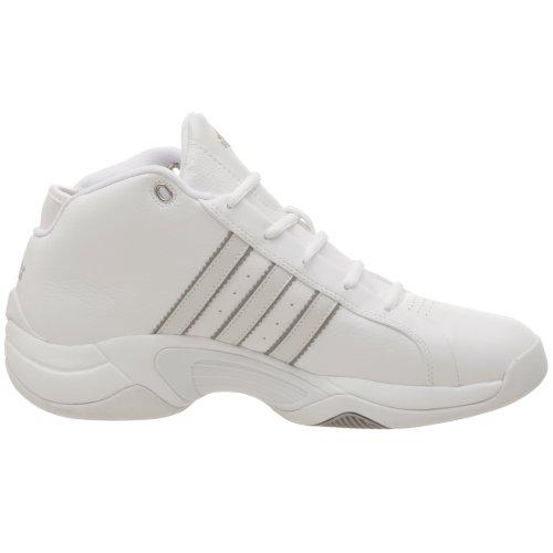 Scarpa Da Basket Adidas Uomo Mezza Stagione Bianco / Corsa Bianca