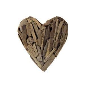 """Handmade Driftwood Heart Décor - Small 11"""" H x 9.5"""" W x 2.25"""" L 20"""
