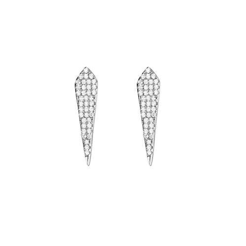 - Carleen 925 Sterling Silver CZ Cubic Zirconia Stud Spike Long Drop Earrings For Women Girls