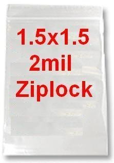 MINI ZIP LOCK BAGS 1 1/2 1000 BAGS