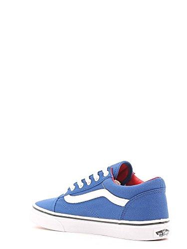 Vans Unisex-Kinder Old Skool Sneaker Blau (canvas/true Blue/racing Red)