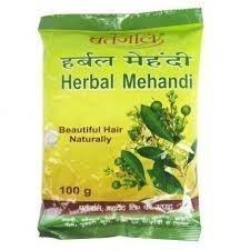 Patanjali Herbal Mehandi - 100gm Pack of - Fall Food Conditioning