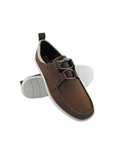 Zerimar Zapato para caballeros náutico de piel de primera calidad con suela de goma flexible PRECIOS DE REBAJAS - AHORA 0 NUNCA Color cuero cuero