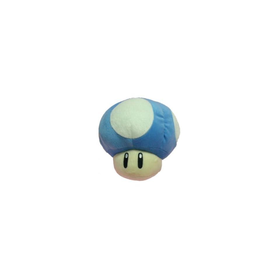 Nintendo Super Mario Bros. Blue Mushroom 8 inch Plush