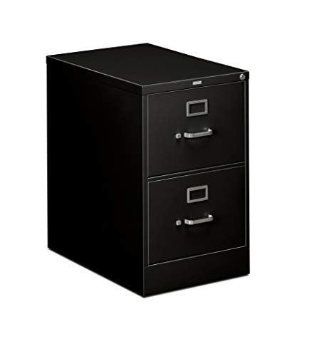 HON 310 Series Vertical File Cabinet Legal Width, 2 Drawers, Black (H312C)