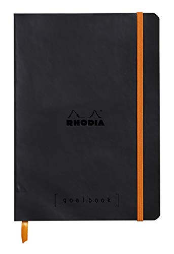 Rhodia Goalbook - Dot Grid 224 Numbered pages - 6 x 8 1/4 - Black