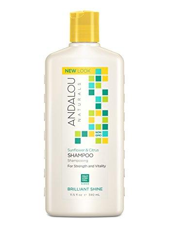 - Andalou Naturals Sunflower & Citrus Brilliant Shine Shampoo, 11.5 Ounce