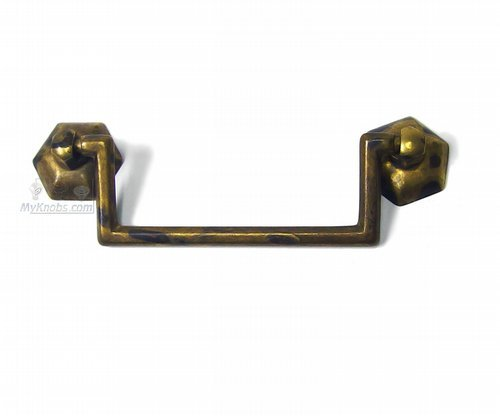 (Cabinet Drop Ball Pull Handle Classic Antique Brass Dark 3 3/4