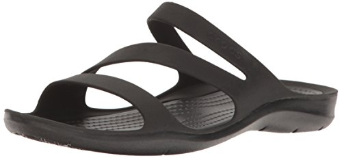 Crocs Women's Swiftwater Sandal, Black/Black, 9 M US