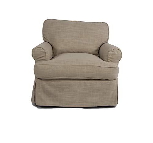 Sunset Trading Horizon Slipcovered Chair, Linen