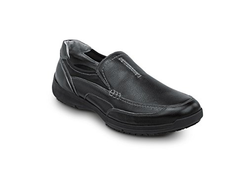SR Max Charleston Men's Slip Resistant Slip On Sneakers Black cheap 100% authentic mwP4V