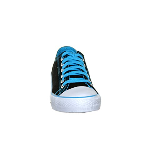 Nouveau Style!! Sneaker Classique En Toile De Skate De Womens Best Seller Noir / L.blue