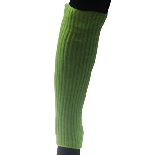 Eyourlife2012 Donna Maglia Crochet Caramelle Colore Gamba Stivaletti Scaldamuscoli Leggings Fluorescrence Verde