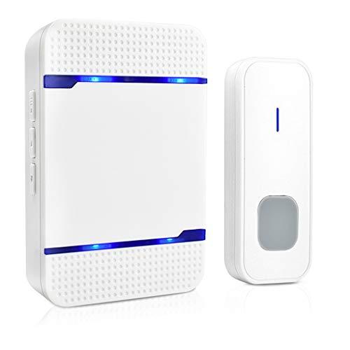 Wireless LED Door Bell 1000FT Receiver Transmitter 5 Volume IP55 w/Batteries