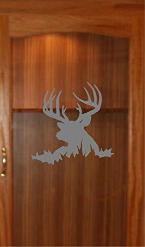 Buck Deer Hunting Etched Glass Vinyl Gun Cabinet Sliding Front Shower Office Window Door Decal Stickers Sticker