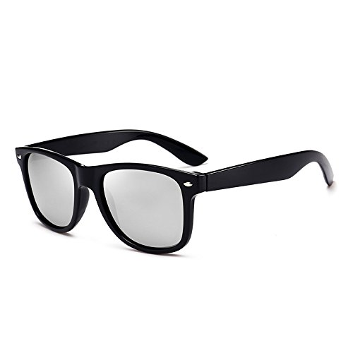 Salvaje de Black Color Box Sunglasses Box Polarizer Mercury Black Moda Hombres Gafas Espejo Conducción Sol clásica Black wYxg6vq