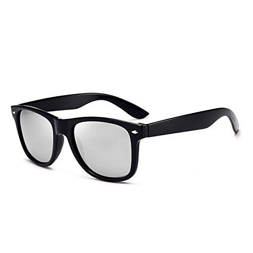 Salvaje de Black Color Box Sunglasses Box Polarizer Mercury Black Moda Hombres Gafas Espejo Conducción Sol clásica Black wYxg6vq