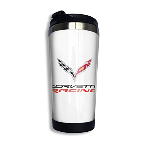 - KGOISG Corvette Apparel Racing Logo Coffee Cups Stainless Steel Water Bottle Cup Travel Mug Coffee Tumbler with Spill Proof Lid