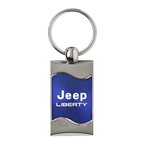 DanteGTS Jeep Liberty Logo Rectangular Wave Key Chain Blue