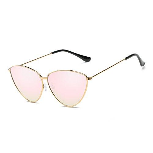 Estilo Colores Selección Gafas De De Polarizado De Goldframepink De Varios De Personalidad Simple UV Mujeres Gato Moda Protección Sol Ojo Gafas BHrYHwaq