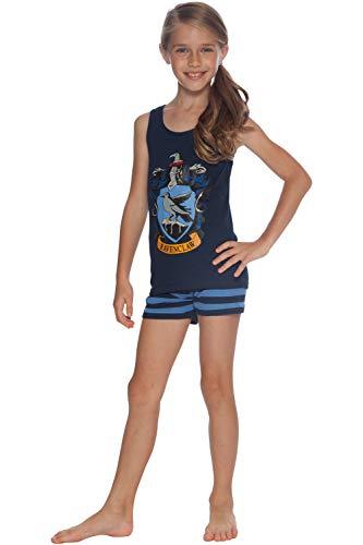 HARRY POTTER 'Ravenclaw House Crest' Cotton Tank Short Pajama 2pc Set, Ravenclaw, 20