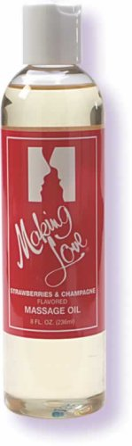 Making Love Flavored Massage Oil Strwbrry Chmpgne 8 Fl oz