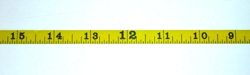 "(Metal Adhesive Backed Ruler – 3/8 Inch Wide X 25 Feet Long – Right to Left – Fractional – 1/16"" Grads)"