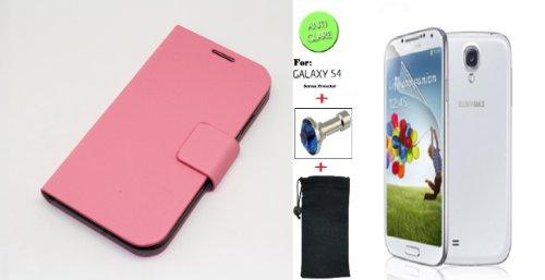 """Baby Pink"" Faux Leather Skin Bracket Flip Case Cover Wallet"