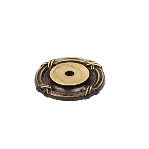 Century Hardware Georgian Premium Solid Brass Backplate 1-1/2'' diameter, 18069-PA-Polished Antique-Value Pack of 100