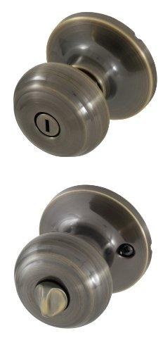 - Honeywell 8101102 Classic Privacy Door Knob, Antique Brass