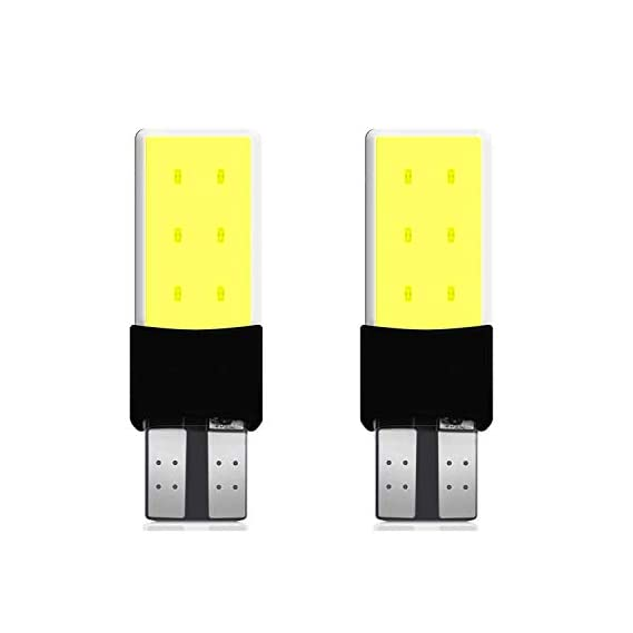 AllExtreme EXT6SCW Universal T10 LED Parking Light 6 SMD Super Bright Chipset Silicone License Plate Dome Indicator Lamp