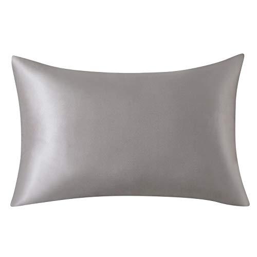 SLPBABY Silk Pillowcase for Hair and Skin with Hidden Zipper Print (Standard(20