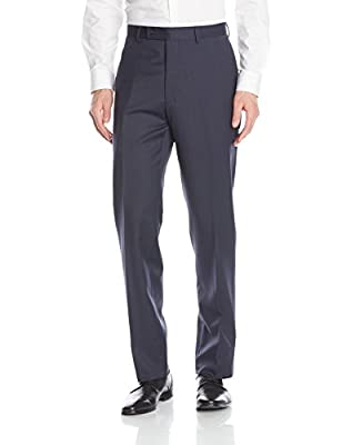 Calvin Klein Men's Marbry Cross Stitch Side-Vent Suit with Flat-Front Pant