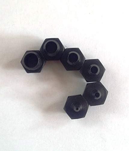 Woodruff Industries 6 Stanzköpfe mit 6 mm Durchmesser Amboss-Werkzeug aus Messing für 3-in-1-Leder-Lochstech-Öseneinsätze und Druckknopf-Einsatzköpfe