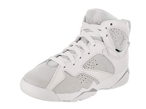 Jordan Air 7 Retro BG Boys Sneakers 304774-034 (6 M US Big Kid, White/Metallic Silver-Pure Platinum) by Jordan